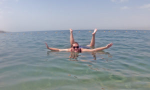 Ashlea spent her 28th birthday floating in the Dead Sea at a resort in Jordan