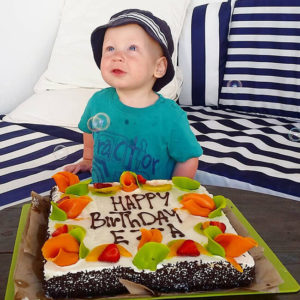 Ezra celebrated his first birthday on a trip to Morocco