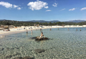 Claudia loves to spend her birthdays on the beach celebrating with family in her native Sardinia