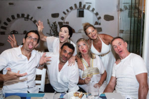 Sandra and her husband took a trip to Paros, Greece, to celebrate their 50th birthdays