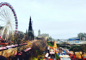 Gillian was happy to be a December baby when it let her spend her birthday in a very Christmassy Edinburgh