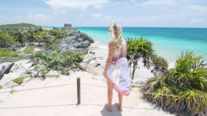 Hannah and Adam spent their birthdays in Tulum while living in Mexico