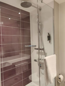 The bathroom was sparkling clean and the shower had really good pressure