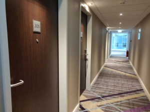 The Premier Inn Hamburg only opened in February 2019, and the carpets still smell new