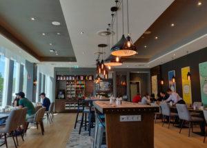 The restaurant at Premier Inn Hamburg