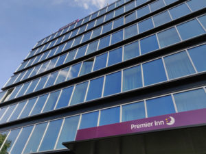 The Premier Inn Hamburg is in an old office block, but you'd never know it once you're inside