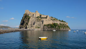 Castello Aragonese sits romantically at the end of a long causeway in Ischia Ponte