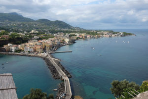 The view over Ischia Ponte from Castello Aragonese