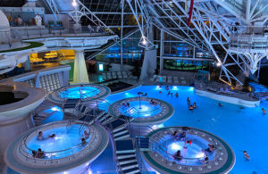 Caldea is a spa fed by natural thermal springs in Andorra