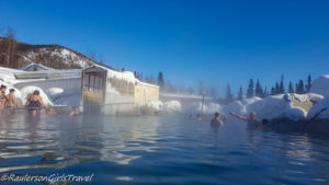 Chena Hot Springs in Alaska is perfect for a snowy hot springs experience