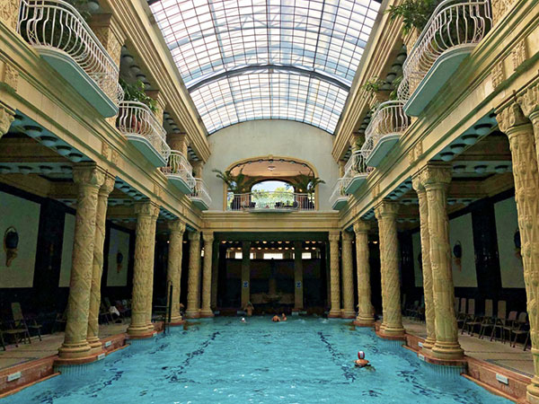 The beautiful Gellert baths in Budapest