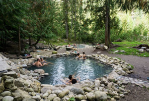 Halfway Hot Springs in British Colombia is free to visit