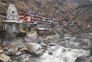 Manikaran hot springs in India