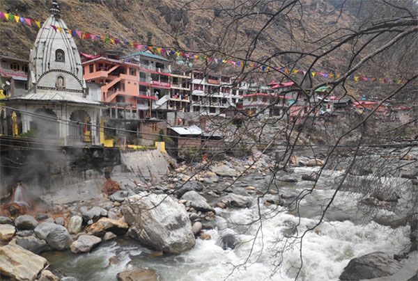 Manikaran hot springs in India