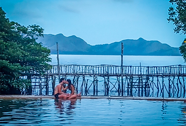 Maquinit hot springs and thermal baths, on the island of Palawan, Philippines