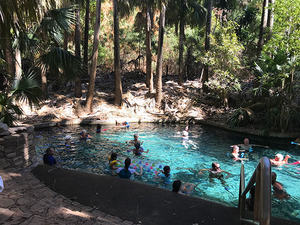 The Mataranka thermal pools in Australia's Northern Territory