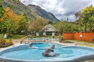 Some of the public thermal pools at Papallacta hot springs, Ecuador
