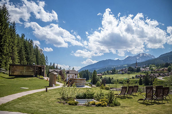 The stunning Dolomites provide the backdrop at QC Terme Dolomiti