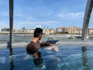 Relaxing at Rudas thermal baths in Budapest