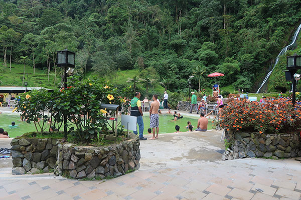 The hot springs and thermal baths at Santa Rosa Cabal, Colombia
