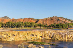 The stunning landscape of Thermopolis, Wyoming