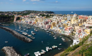 One of the most beautiful views I've ever seen. The Marina di Corricella in Procida.