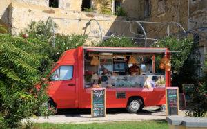 This cute food truck was parked at the Marina di Corricella viewpoint