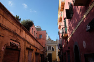 Just one of the charming and colourful streets in Procida