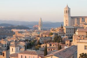 Sunset in Girona. Image by Irene Lasus Almirón from Pixabay.