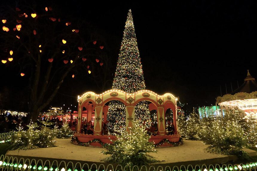 The fabulous Christmas lights at Tivoli, Copenhagen