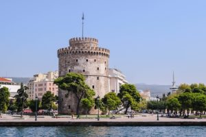 The White Tower of Thessaloniki. Image by Emilia Babalau-Maghiar from Pixabay.