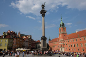Castle Square in Warsaw. Everything in this picture was rebuilt after the Second World War.