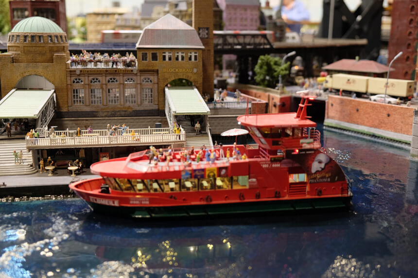 The St Pauli Landungsbrücken are so iconic that they've made it into the models at Miniatur Wunderland