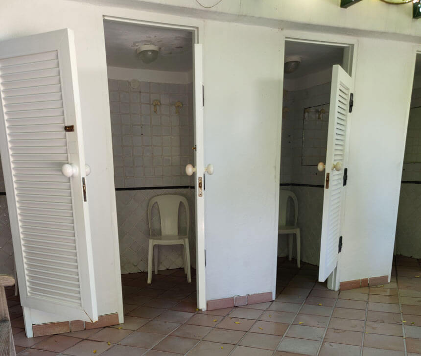 The changing rooms at Negombo are fairly basic