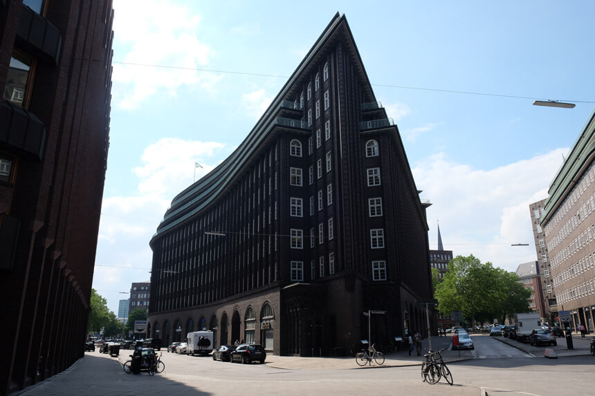 The Chilehaus is the centrepiece of the Kontorhaus district