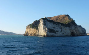 Capo Miseno looking beautiful in the late evening sun. We treated the slow ferry like a mini-cruise to Ischia and really enjoyed the journey.