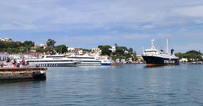 Ferries in the harbour at Ischia Porto