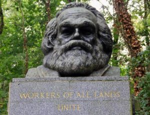The grave of Karl Marx in Highgate Cemetery