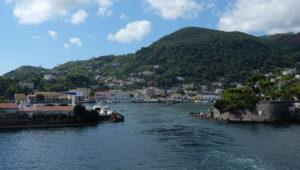 The entrance to Ischia Porto's circular harbour