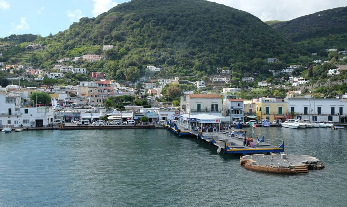 The landing stage for hydrofoils and catamarans in Ischia Porto