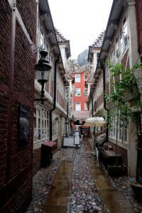 The Krameramtswohnungen are hidden down a little alley near the Michel church