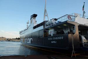 A Medmar car ferry arriving in Ischia Porto