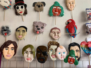 Looking for something truly quirky to do in London? Why not make a lollipop the size of your head with your face on it?