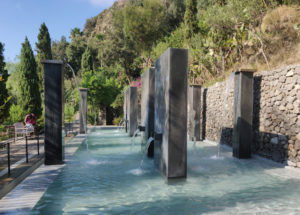 The stunning pillars and thermal water cascades of the Templare pool