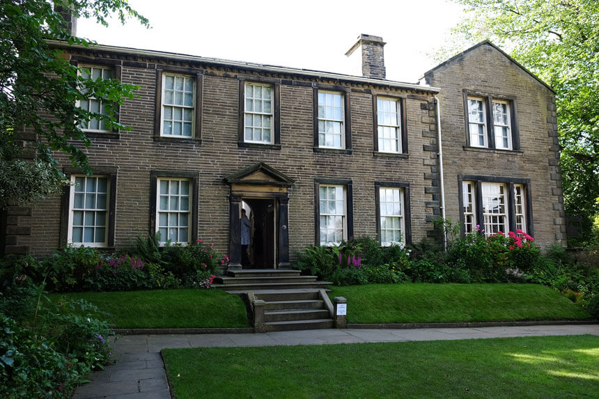 The pretty garden at the Brontë Parsonage Museum has been planted in a typical early-Victorian style