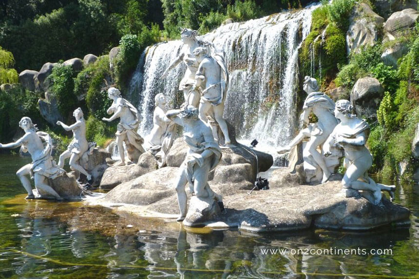 The Caserta Royal Palace boasts one of the most beautiful gardens in Italy