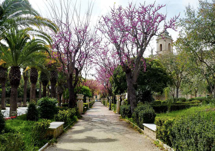 The Giardini Iblei, a peaceful garden in Ragusa, Sicily