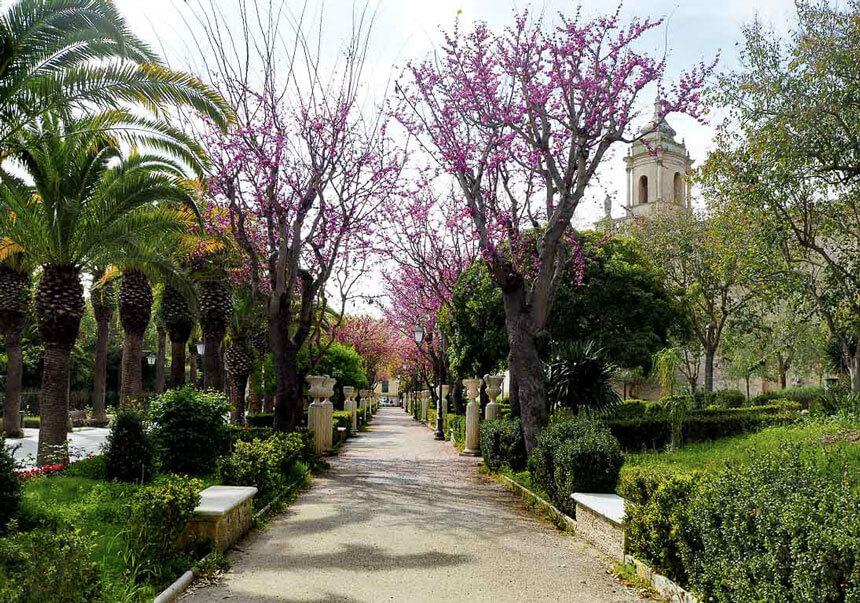The Giardini Iblei, a peaceful garden in Ragusa, Sicily