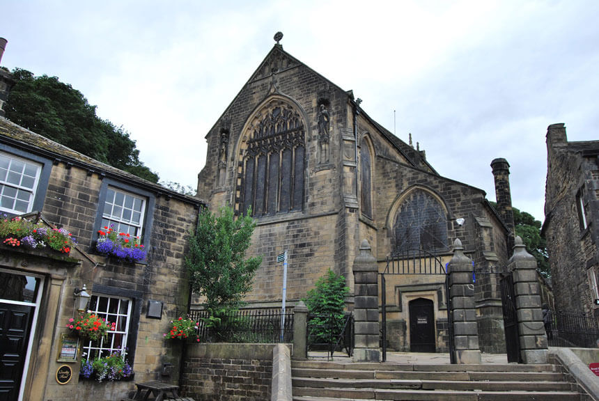 Haworth Church. The current building dates from 1879.
