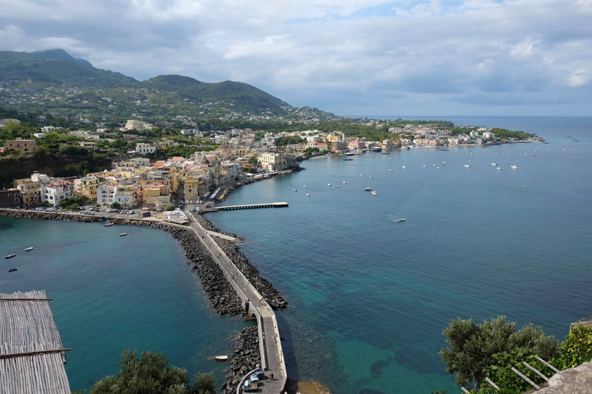The amazing view from the Terrace of the Immaculate Conception, Castello Aragonese, Ischia